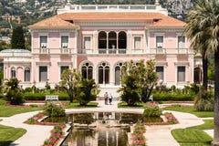 Casa de campo Ephrussi de Rothschild Fotografia de Stock