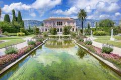 Casa de campo Ephrussi de Rothschild foto de stock
