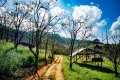 Casa de campo lateral da estrada Fotos de Stock Royalty Free