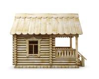 Casa de campo na vila em um fundo branco ilustração royalty free