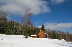 Casa de campo nas montanhas Fotos de Stock Royalty Free