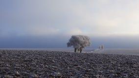 Casa de campo no inverno fotografia de stock