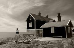 Casa de campo para o aluguel na costa do mar Báltico na Suécia Foto de Stock Royalty Free