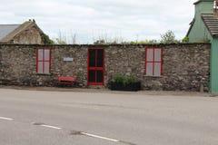 Casa de campo de pedra na Irlanda sem um telhado Imagem de Stock