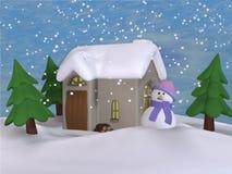 Casa de campo pequena 1 de Toon Imagem de Stock