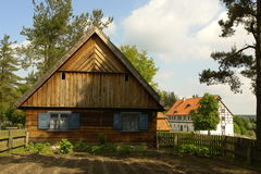 Casa de campo popular velha Fotografia de Stock