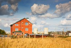 Casa de campo privada Imagens de Stock
