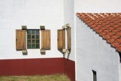 Casa de campo romana Windows Foto de Stock Royalty Free