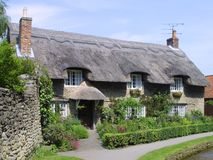Casa de campo thatched inglesa Fotos de Stock Royalty Free