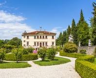 Casa de campo Valmarana ai Nani em Vicenza Imagem de Stock
