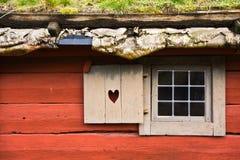 Casa de campo vermelha Fotografia de Stock Royalty Free