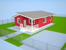 Casa de campo vermelha pequena Imagens de Stock Royalty Free