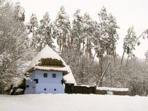 Casa de campo vieja en museo al aire libre en Sibiu imagenes de archivo