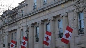Casa de Canadá en la ciudad de Londres metrajes
