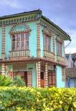 Casa de canto colorida velha Fotos de Stock Royalty Free