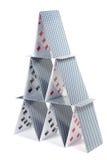 Casa de cartões Imagem de Stock Royalty Free