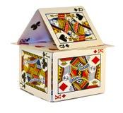 Casa de cartões Imagem de Stock