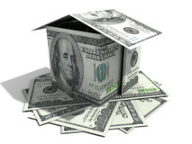 Casa de cem dólares Fotos de Stock