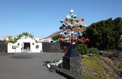 Casa de Cesar Manrique, Lanzarote imagen de archivo libre de regalías