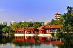 Casa de chá, jardim chinês imagem de stock royalty free