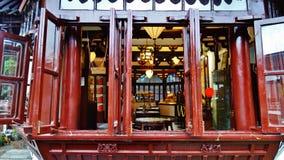 A casa de chá, Shanghai, porcelana imagem de stock