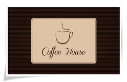 Casa de Coffe Foto de Stock Royalty Free