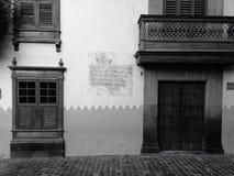 Casa de Columbus, vecindad de Vegueta Foto de archivo libre de regalías