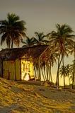 Casa de Cuba na praia Fotos de Stock Royalty Free