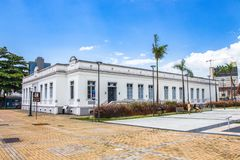 The Casa De Cultura in Itajai, Santa Catarina, Brazil. Itajai, Santa Catarina, Brazil - February 22th, 2018: The Casa de Cultura Dide Brandao at the downtown of Stock Photography