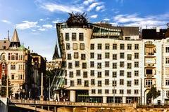 Casa de dança de Praga, República Checa, vista da outra proibição foto de stock royalty free
