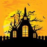Casa de Dia das Bruxas Fotografia de Stock Royalty Free