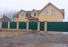 Casa de duas histórias sob a construção Foto de Stock Royalty Free