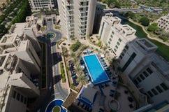 A casa de Dubai dos verdes e o complexo de apartamentos, Dubai, United Arab Emirates, Fotos de Stock