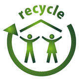 Casa de Eco_recycle Imagem de Stock Royalty Free