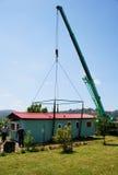 Casa de elevación de la grúa Imagenes de archivo