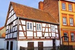 Casa de entramado de madera de Spremberg Fotografía de archivo libre de regalías