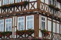 Casa de entramado de madera magnífica en Alemania imagen de archivo