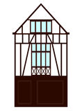 Casa (de entramado de madera) medieval del fachwerk Fotografía de archivo libre de regalías