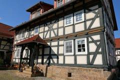 Casa de entramado de madera en Hesse septentrional Alemania Fotografía de archivo libre de regalías