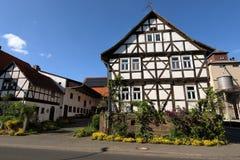 Casa de entramado de madera en Hesse septentrional Alemania Imagen de archivo