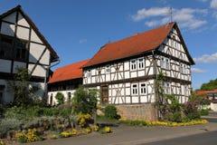 Casa de entramado de madera en Hesse septentrional Alemania Imagen de archivo libre de regalías