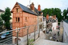 Casa de entramado de madera en la calle Rue de la Poterne imágenes de archivo libres de regalías