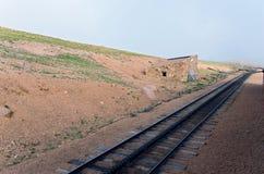 Casa de estación a lo largo del ferrocarril de diente histórico Foto de archivo libre de regalías