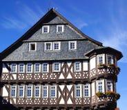 Casa de Fahverk no centro histórico de Alsfeld. fotos de stock