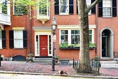Casa de fila de Beacon Hill con Turquía en Boston fotos de archivo libres de regalías