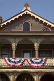 Casa de fila victoriana de Cape May Fotos de archivo libres de regalías