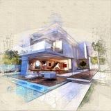 Casa de flutuação ilustração royalty free