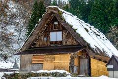 Casa de Gassho-zukuri en el pueblo de Shirakawa, Japón Imagen de archivo