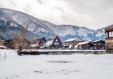 Casa de Gassho-zukuri en Shirakawa, Japón Imagen de archivo libre de regalías