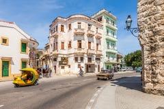 Casa de Havana City idosa em Cuba foto de stock